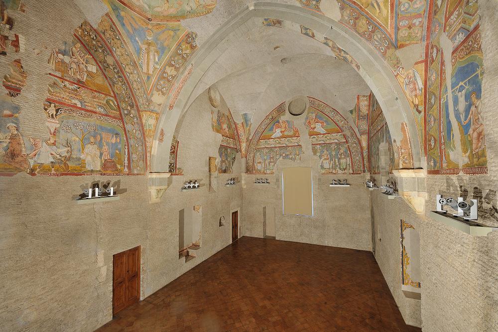 L'aula gotica nel complesso dei Santi Quattro Coronati al Celio