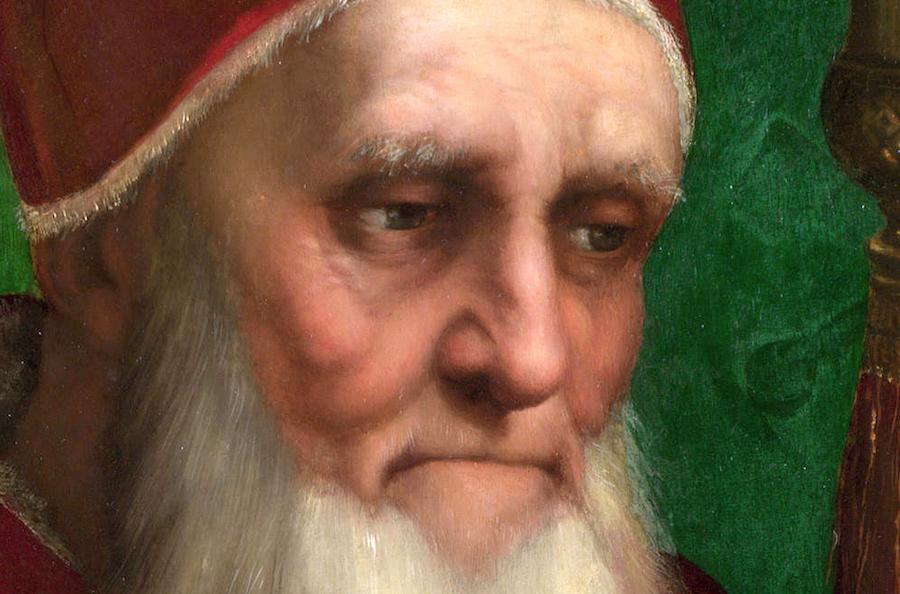 ritratto di papa Giulio II di Raffaello Sanzio